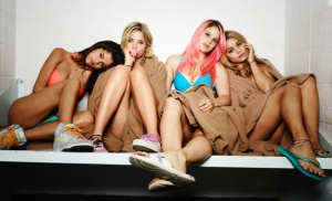 Selena Gomez, Ashley Benson, Rachel Korine and Vanessa Hudgens in Spring Breakers