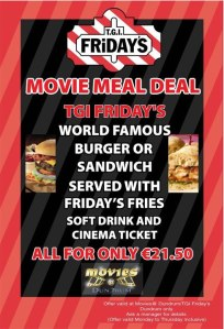 Tasty Cinema Ticket and Meal Deals Around Dublin