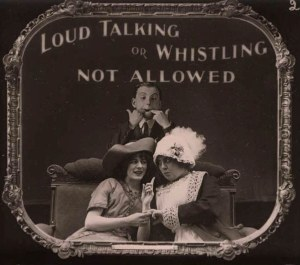 cinema etiquette 1910